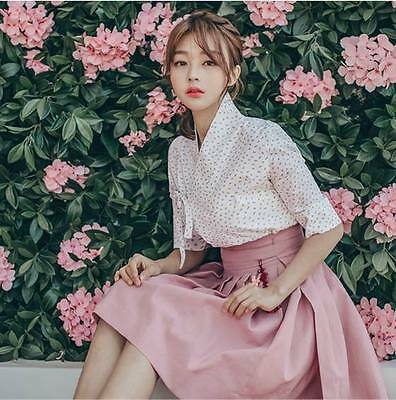 Hanbok Traditional Korean Dress (two-piece) TOP jeogori , Skirt /Evening Party