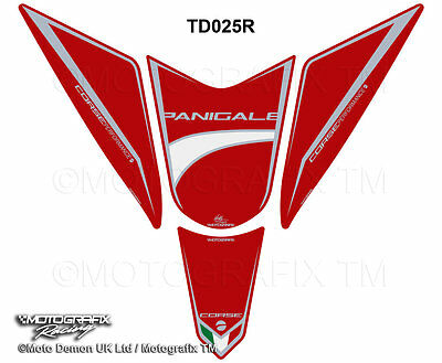 Motografix DUCATI 1299 Panigale Red Motorbike Tank Pad Paint Protector TD025R