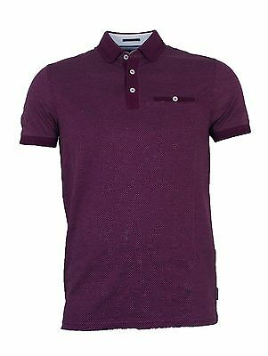 Brand new men's Ted Baker 'Otto' purple polo shirt