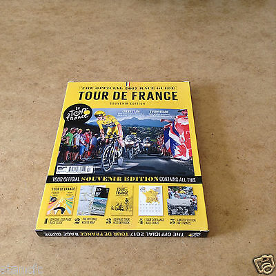 Official Tour De France 2017 Souvenir Edition Race Guide Route Map Wallchart