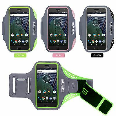 GBOS® Gym Armband Running Jogging Adjustable Exercise Case For Moto G5 & G5 Plus