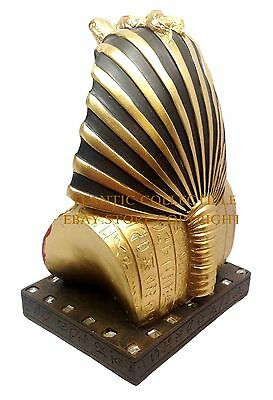 "Ancient Egyptian Pharaoh King Tut Bust Mask 6"" Statue Tutankhamun Decor Figurine"