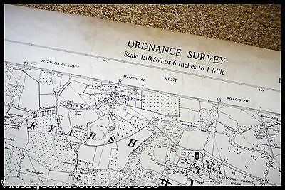 Vintage Ordnance Survey Sheet Map Tq 65 North East Kent 1961