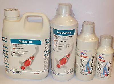 NT Labs Koi Care Malachite Anti-Fungal Pond Treatment 250ml 500ml 1000ml
