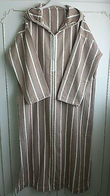 Moroccan Mens Jilbab, Jubba, Djellaba, Kaftan, Islamic Dress, Size L