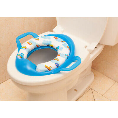 Printed Kids Toddler Soft Padded Potty Seat Cushion Toilet Training Blue
