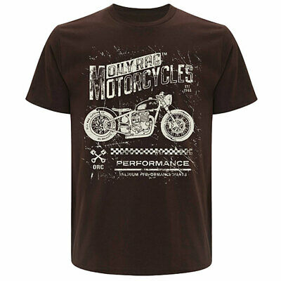 Oily Rag Motor Company Clothing Casual Motorcycle Sales T-Shirt - Brown