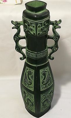 Chinese art work dragon metal vases H26cm