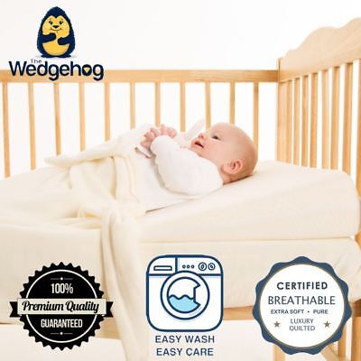Quilted Wedgehog Deluxe - 70cm Cot Bed Reflux Wedge - with Free Bundled eBook