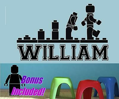 LEGO Evolution Personalized  Vinyl Wall Decal Sticker Children's Bedroom Art