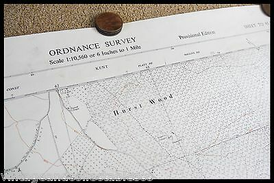 Vintage Ordnance Survey Sheet Map Tq 65 South West Kent 1961