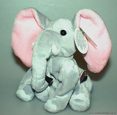 "Coca Cola 6"" CLOMP the ELEPHANT Bean Bag Toy NWT - Mint"