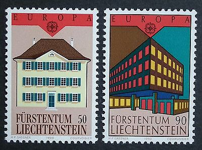 Liechtenstein (1990) Europa CEPT Post Offices / Architecture - Mint (MNH)