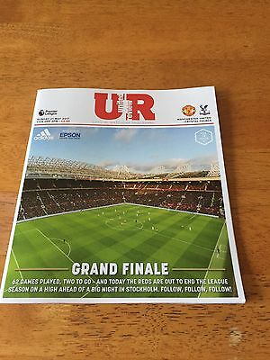 Manchester United V Crystal Palace Match Day Programme From 21-05-17