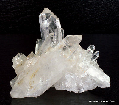 Clear Crystal Quartz Cluster AAA Quality Undamaged Tips MG Brazil 10.4 cm 351 gr