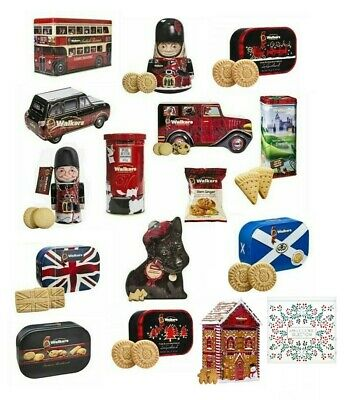 Walkers Shortbread Shapes Fingers Rounds Assortment Shaped Tins for Christmas