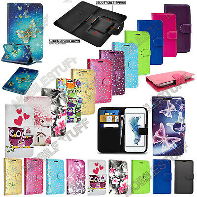 Universal Leather Stand Flip Wallet Cover Mobile Phone Case For Alcatel Models