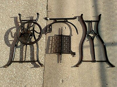 Antique cast iron sewing machine stand. Steampunk. Singer Wilcox and Gibbs White