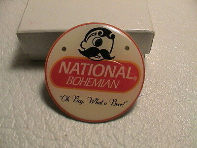 National Bohemian Oh Boy What A Beer Red Flashing Led Brewery Ale Magnetic Pin