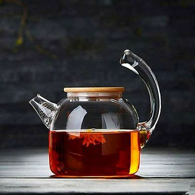 1000ML 34 oz Teapot Heat resistant Borosilicate Clear Glass Scented tea Kettle