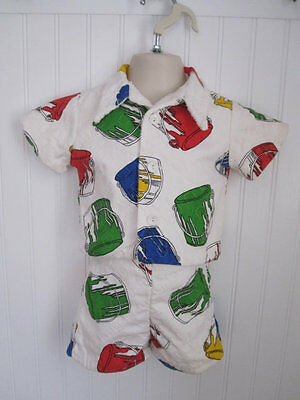Vintage Beachwear Size 2T Shorts and Shirt Terry Lined