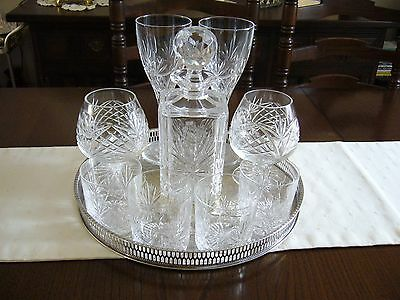 Round Vintage Silver Plated Gallery / Decanter Tray By Viners
