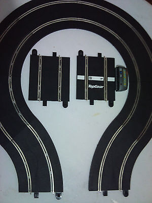 8x Scalextric Sport  curves for spares + working Top Gear powertrack