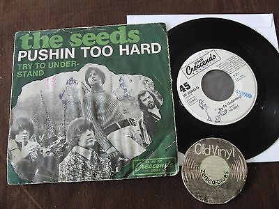 "7"" The Seeds Pushin too hard try to understand Germany 1967 