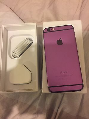 Apple iPhone 6 -16GB - purple and black customised (Unlocked) Smartphone