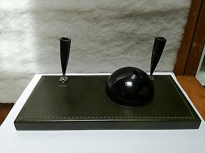 set desk pen holder bakelite IRBI pen holder inkwell bic