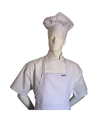 Chefskin Adult Chef White 2X XXL Chef Set (Apron+hat) Adjustable Ultra Lite F...