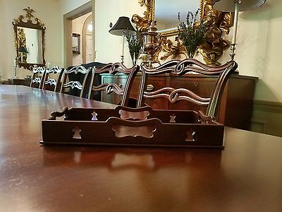 Colonial Williamsburg Mahogany Gallery Serving Tray Cw120 Virginia Metalcrafters