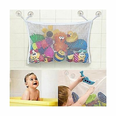 Baby/Toddler Bath Tub Toys Organizer - New Design 4 Suction Cups + 2 Extra St...