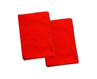 2 Red Toddler Pillowcases - Envelope Style - For Pillows Sized 13x18 and 14x1...