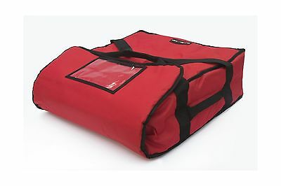 Red Polyester Insulated Pizza / Food Delivery Bag 16  18 Professional Pizza D...