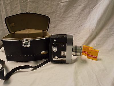Bell & Howell Director Series Zoomatic 8mm Camera, Film, Case