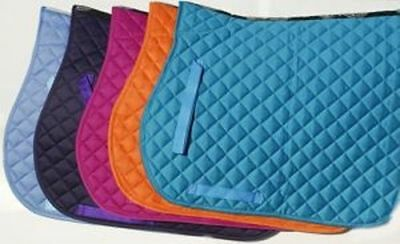 Rhinegold Cotton Quilted Saddle Cloth *NEW COLOURS ADDED*