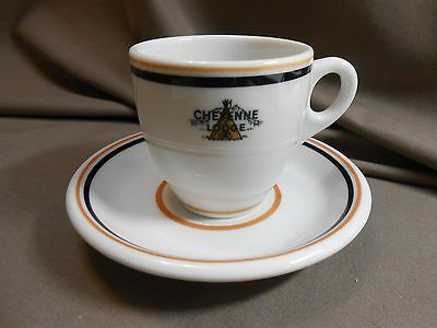 New Orleans Est CHEYENNE LODGE Colorado Springs 26 CUP SAUCER restaurant  china