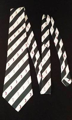 * Classic Golf Tie * René Chagal * Hand Made * Never Used * Free Postage *