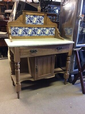 Antique / Vintage Edwardian Marble Wash Stand Ts0064