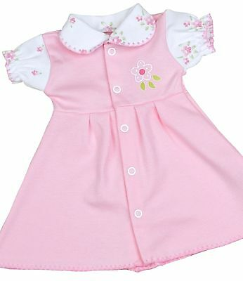 BabyPrem Premature Baby Clothes Girls Pink Vintage Print Dress Dresses 1.5-7.5lb