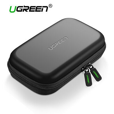 "UGREEN External 2.5"" Hard Drive Bag HDD Bag Case Fr Earphone U Disk Camera Cable"
