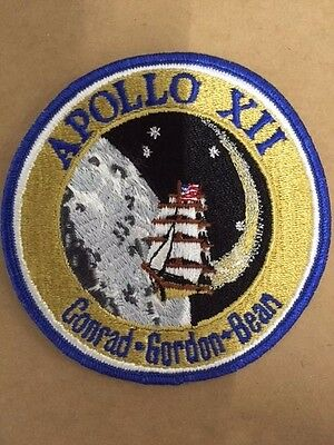 Apollo XII Mission The Recovery Crew Patch AS12UNK2 Texas Art Embroidery Rare NM