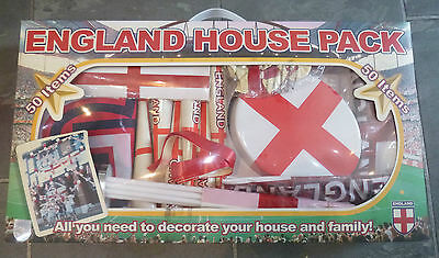 New St George  england flags,bunting,trumpets horns house football party pack