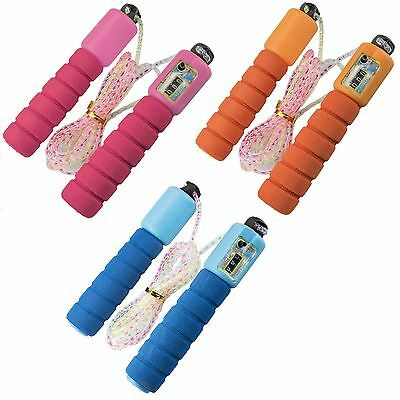 1 x Childrens SKIPPING ROPE with Built in COUNTER, 1 Colour selected randomly!