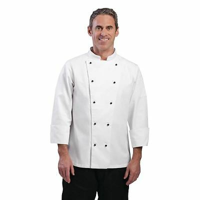 Whites Chefs Apparel Chicago Chef Jacket Long Sleeve White L Coat Top Kitchens
