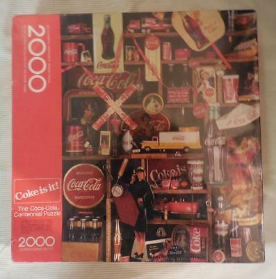NEW SEALED 1986 COCA-COLA CENTENNIAL 2000 Pc SPRINGBOK JIGSAW PUZZLE