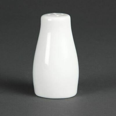 Olympia Pepper Shaker in White Fully Vitrified - Tableware - 90mm 12pc