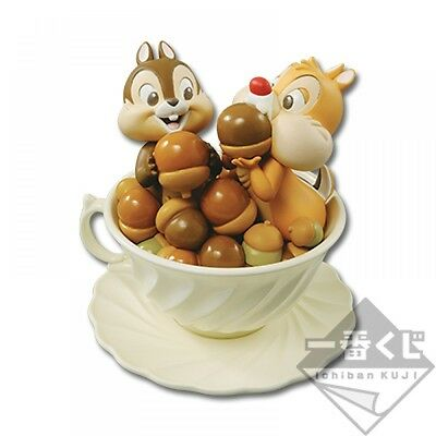 Disney Ichiban Kuji C Prize Happiness Tea party Chip'n Dale Figure Chip and Dale