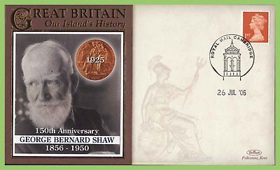 G.B. 2006 150th Anniversary of the George Bernard Shaw commemorative Cover